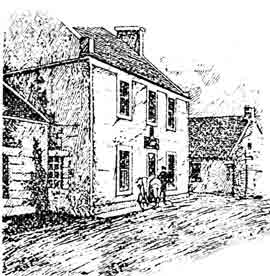 Etch of the Old Inn Carmunnock
